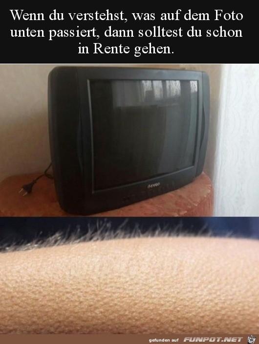 Vom Fernseher elektrisiert