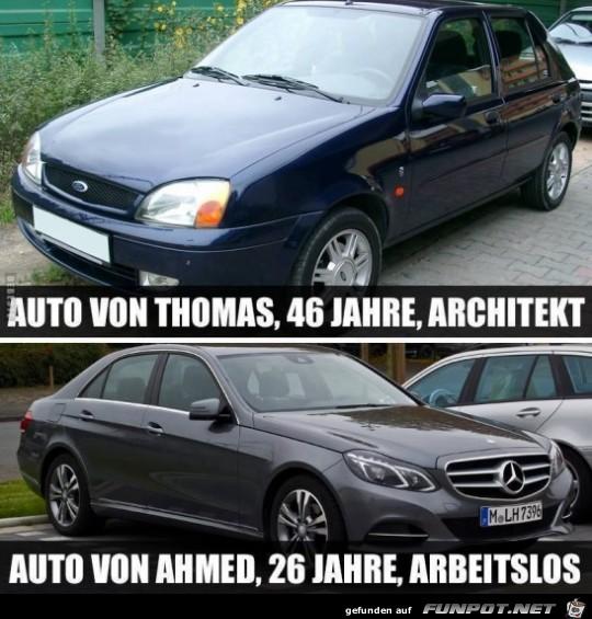Auto von Thomas