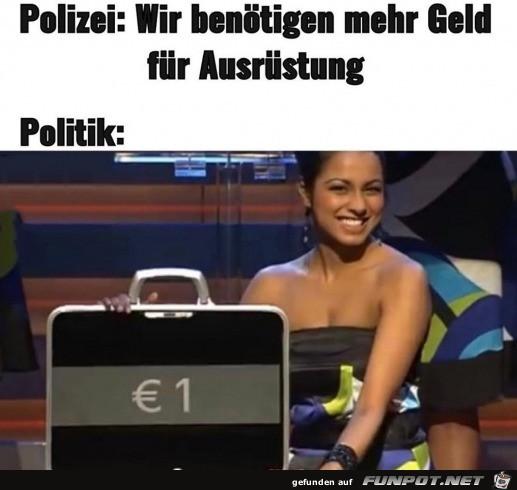 Polizei benötigt mehr Geld für Ausrüstung