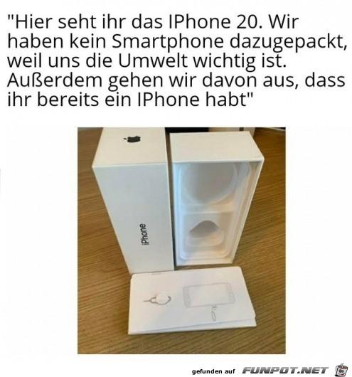 Das neue iPhone 20 - der Umwelt zuliebe