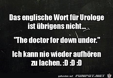 Das englische Wort für Urologe