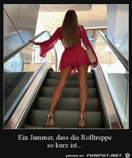 Rolltreppe zu kurz