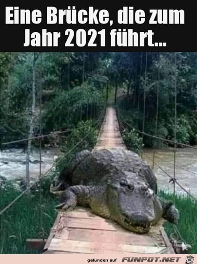 Brücke zum Jahr 2021