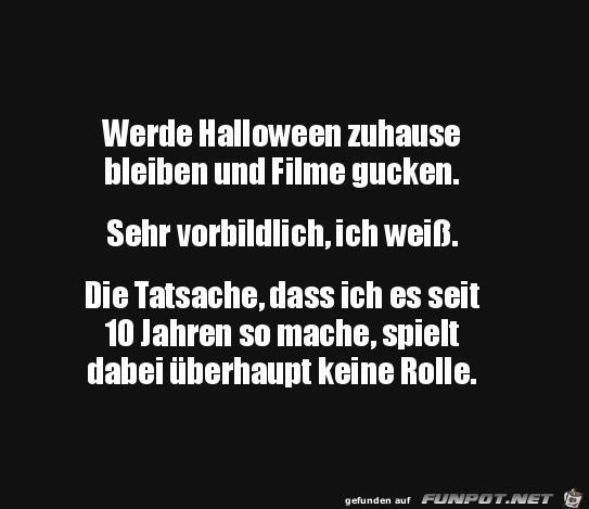 Bleibe an Halloween zuhause