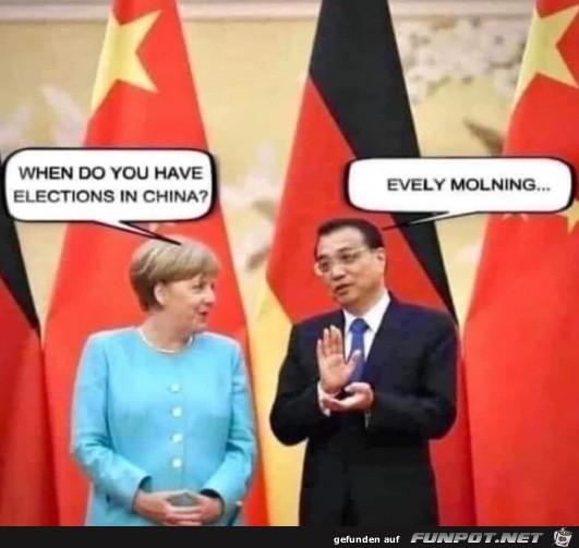 Wann wählt ihr in China?