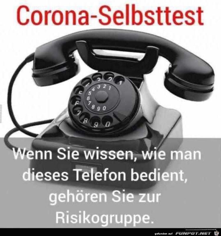 Corona-Telefon-Selbsttest