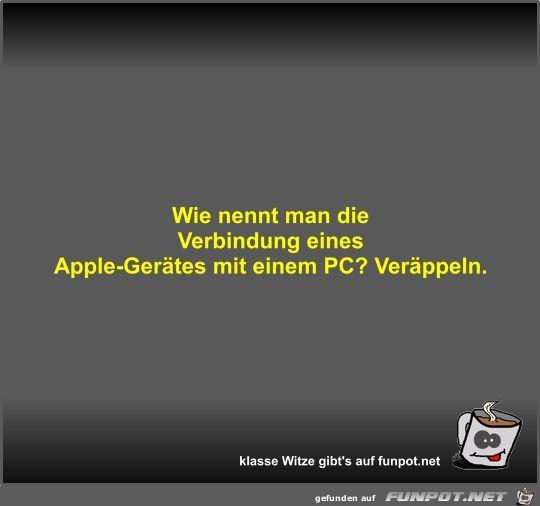 Wie nennt man die Verbindung eines Apple-Gerätes mit einem