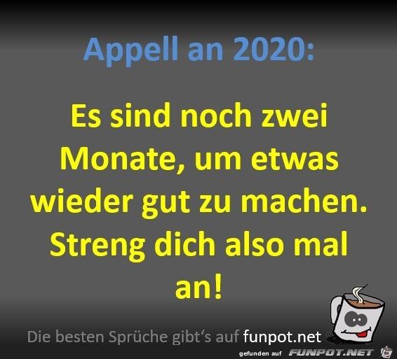 Appell an 2020