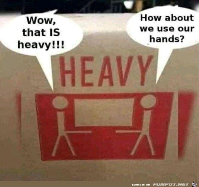 Wie wäre es, wenn wir die Hände benutzen?