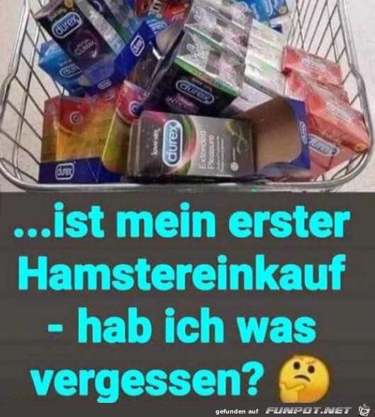 Erster Hamstereinkauf