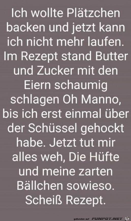 Blödes Plätzchen-Rezept