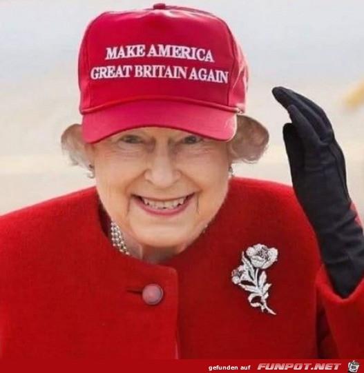 Da lacht die Queen