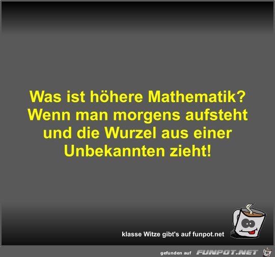 Was ist höhere Mathematik?