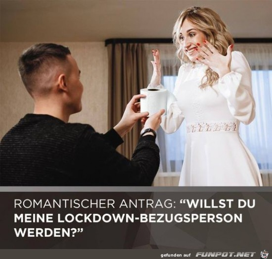 Was für ein romantischer Antrag