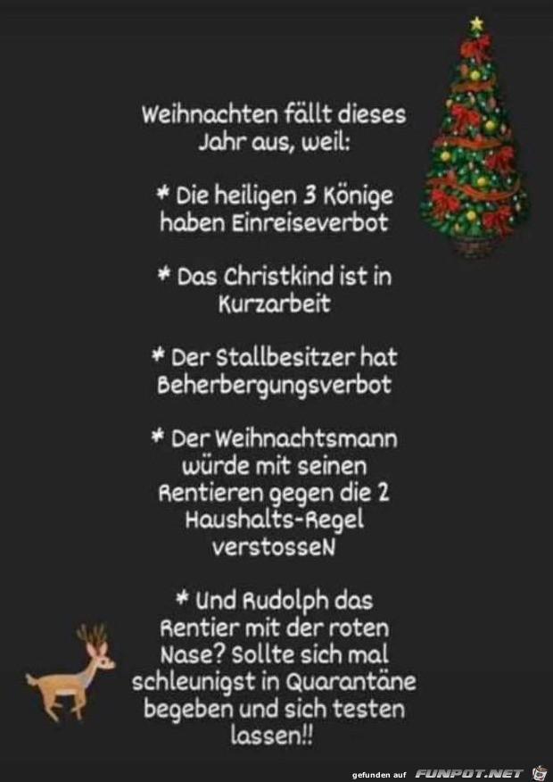 Warum Weihnachten dieses Jahr ausfällt