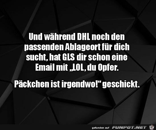 GLS schickt dir eine Mail
