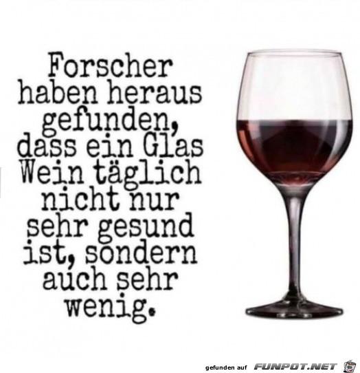 Ein Glas Wein täglich