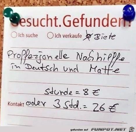 super Deutsch-Nachhilfe