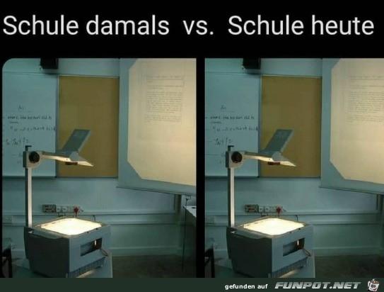 Schule damals und heute