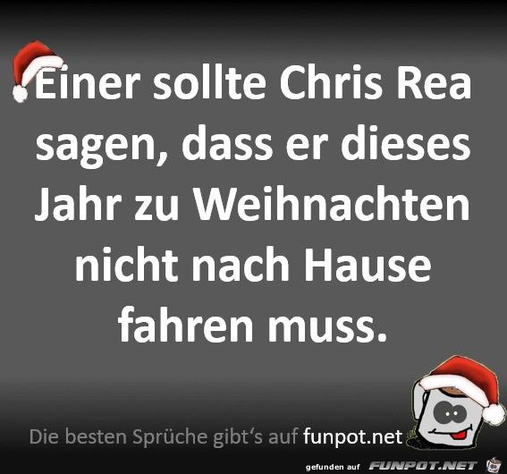 Einer sollte Chris Rea Bescheid sagen