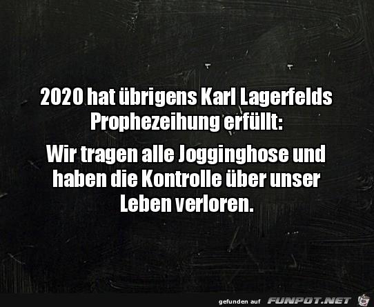 Karl Lagerfelds Prophezeihung