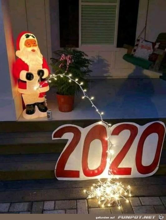 Weihnachtsmann und 2020