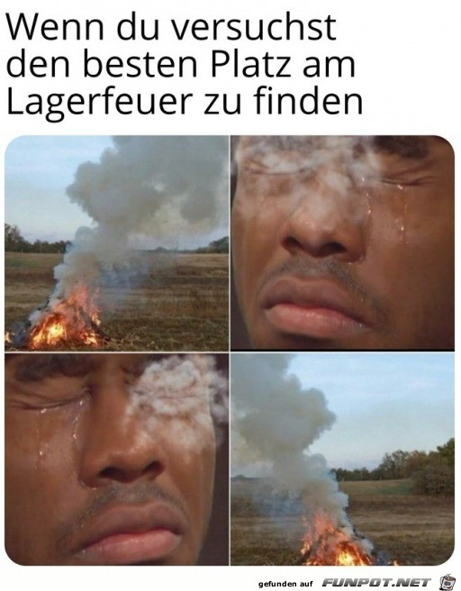 Rauch brennt in den Augen