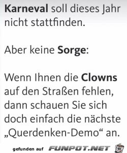 Clowns auf den Straßen