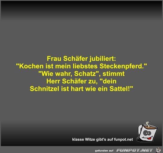 Frau Schäfer jubiliert