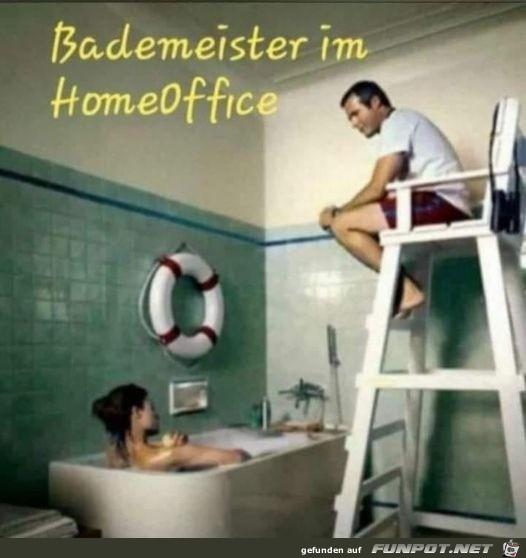Bademeister im Homeoffice