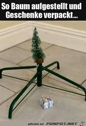 Super Baum und großes Geschenk