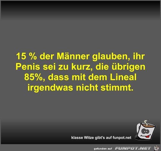15 % der Männer glauben