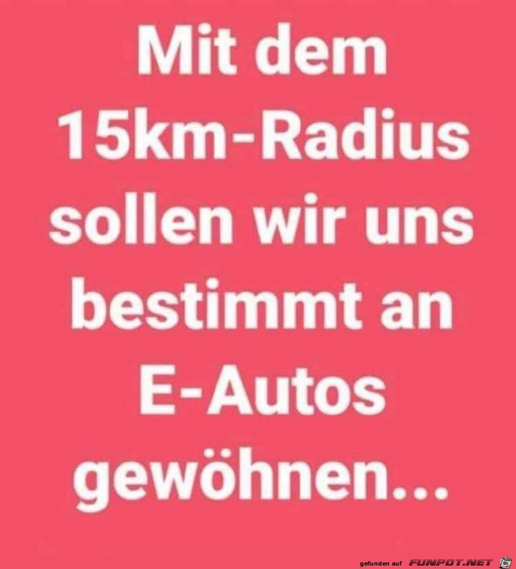 Der 15-km-Radius