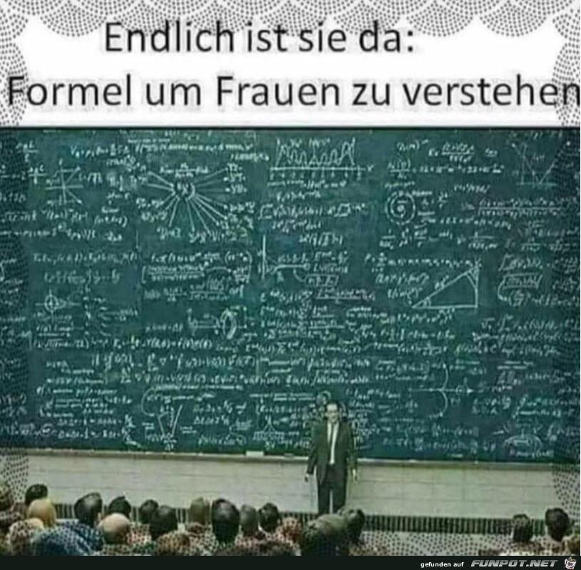 Formel, um Frauen zu verstehen