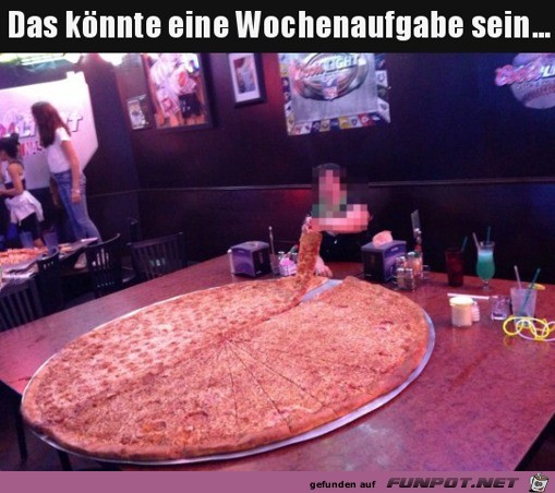 Ziemlich große Pizza