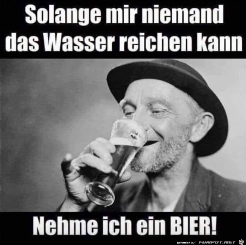 Ich nehme ein Bier