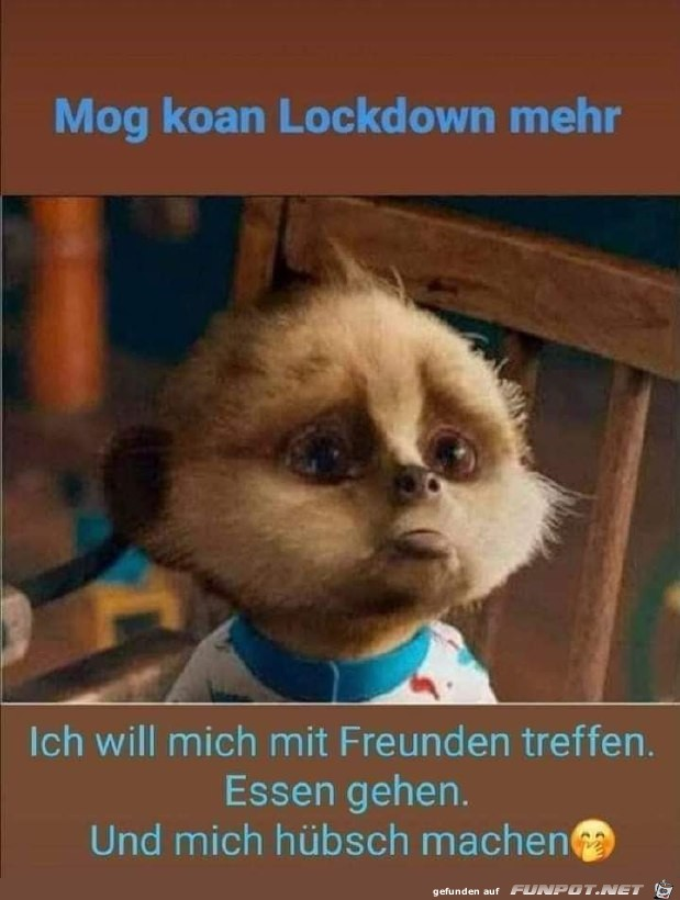 Traurig wegen Lockdown