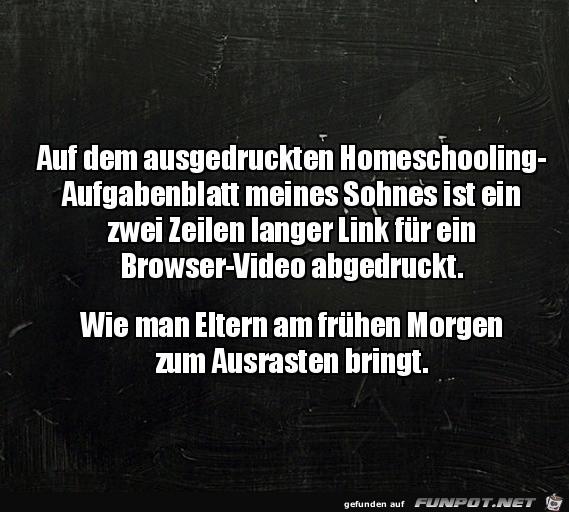 Homeschooling ist anstrengend