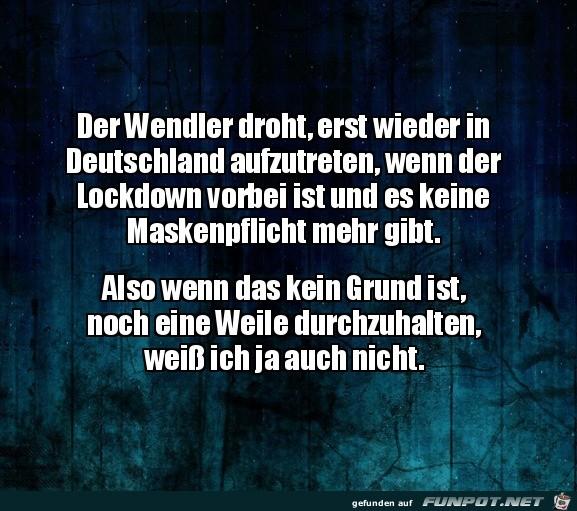 Der Wendler droht