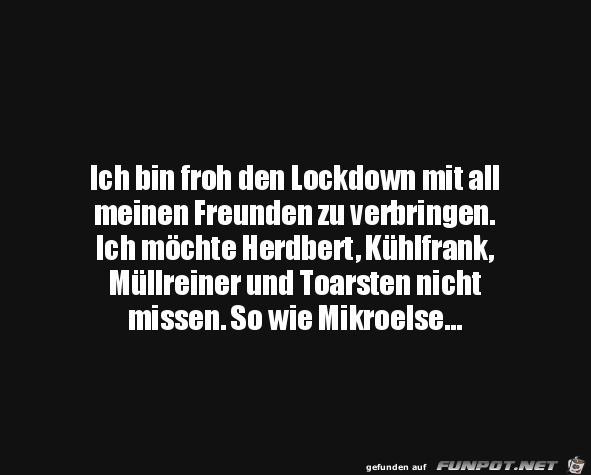 Freunde im Lockdown