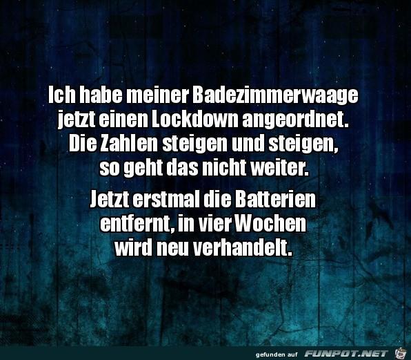 Lockdown für die Waage