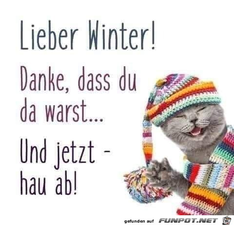 Winter hau ab