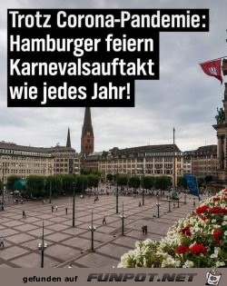 Karnevalsauftakt in Hamburg