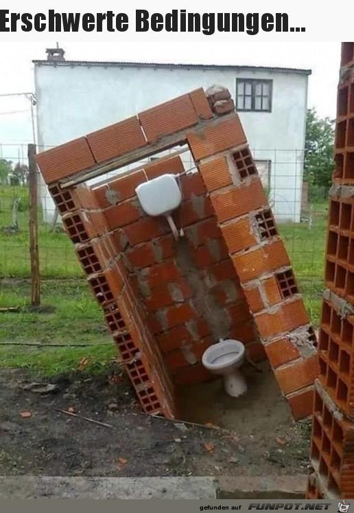 Erschwerter Toilettengang