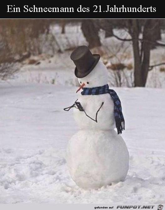 Moderner Schneemann