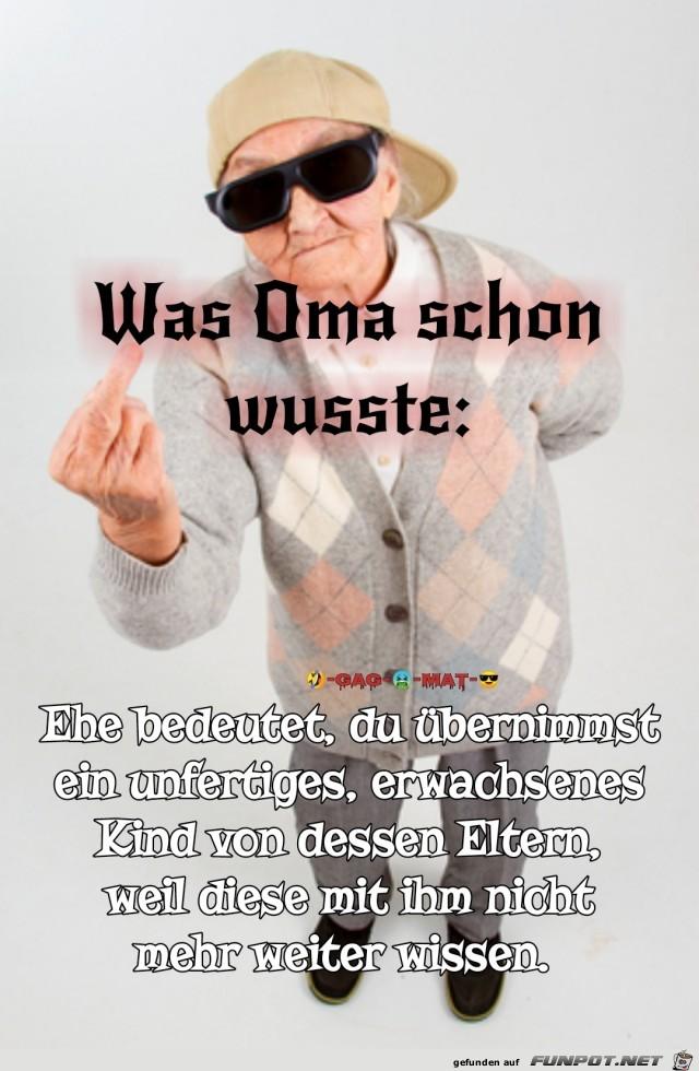 Omas Weisheit