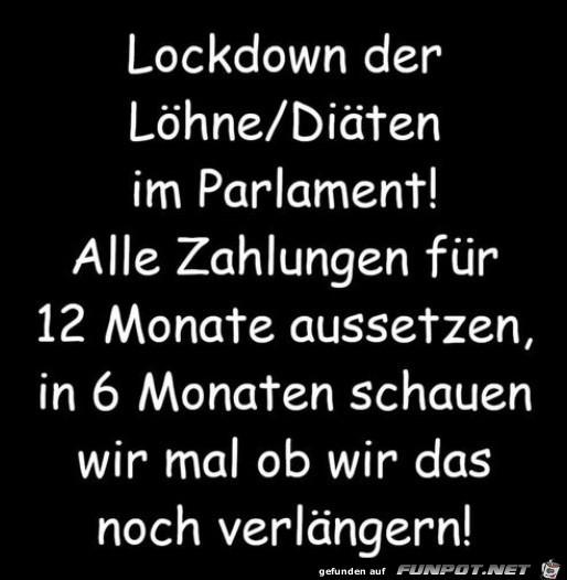 Lockdown der Loehne