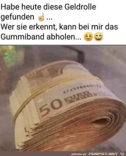 Geldrolle gefunden