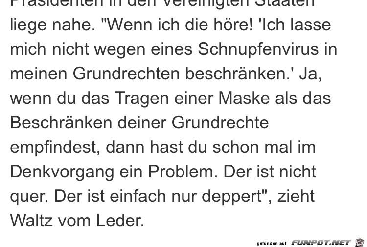 Christoph Waltz über Querdenker