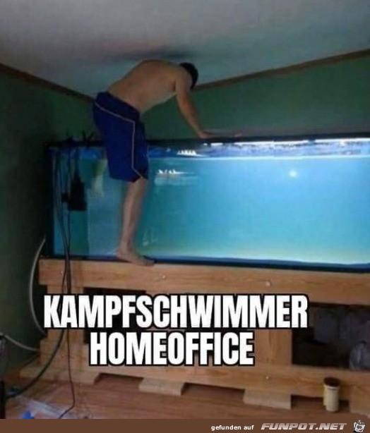 Kampfschwimmer im Home Office